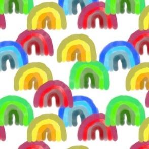 many colored rainbows