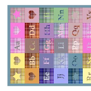 Plaid ABCs Tea Towel