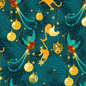 Tropical Maximalist Christmas-lighter-Large