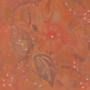 Autumn  Watercolor Garden - Plum Wash