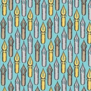 Dip Pen Nibs (Calm Blue Palette) – Small Scale