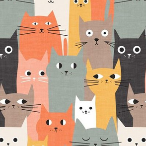 Silly Cats - Orange Brown small