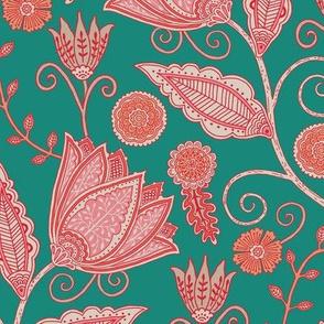 "Tara's Garden (12"") - turquoise green"