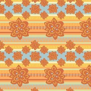 Zippy stripe/pumpkin