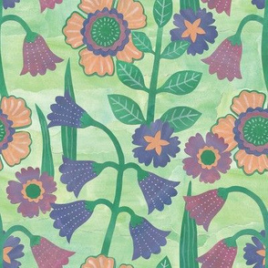 "Floral Meadow (8"") - green"