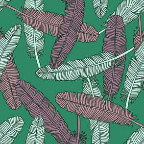 """Feathers (12"""") - green"""