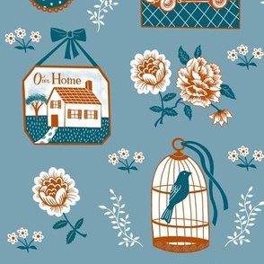 Home Sweet Home-Blue