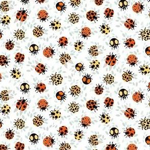 Ladybug party on white