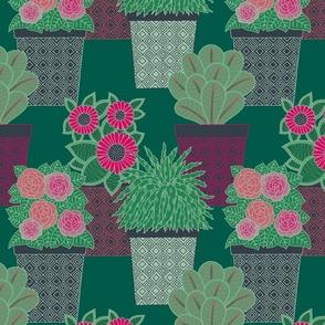 "Plants (12"") - green"