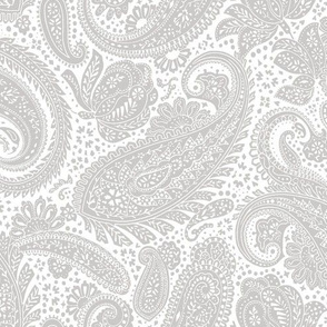 small Paisley Positivity white light grey