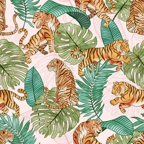 Tiger and Plants