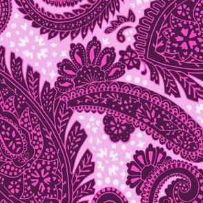 large Paisley Positivity deep pink