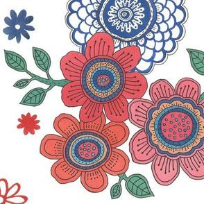 "Flower Field (24"") - white"