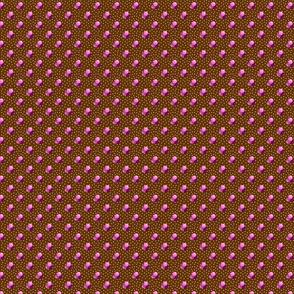 Petite brown dots triple berries