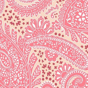 large Paisley Positivity red terracotta