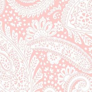 large Paisley Positivity light rose white