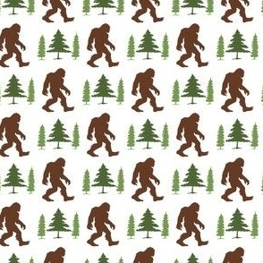 Bigfoot Trees Green Brown Small