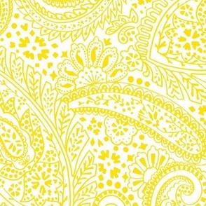 large Paisley Positivity yellow