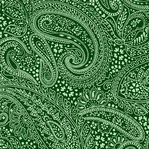 small Paisley Positivity green tones
