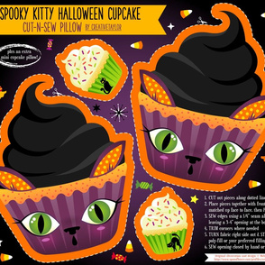 Cut N Sew Halloween Kitty Cupcake Pillow