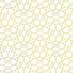 Vermicular pattern Gold on white