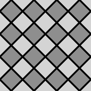 diagonal checker board gray A6