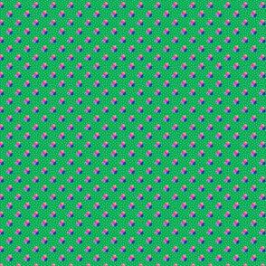 Petite green dots triple berries