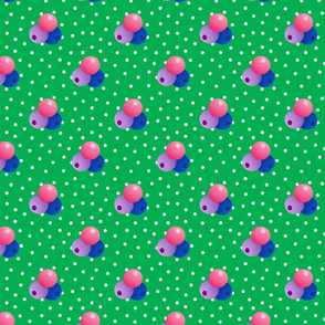 Grande green dots triple berries