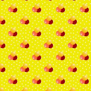 Grande yellow dots triple berries
