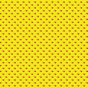 Petite yellow dots triple berries