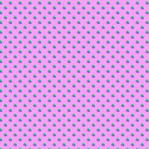 Petite rose dots triple berries