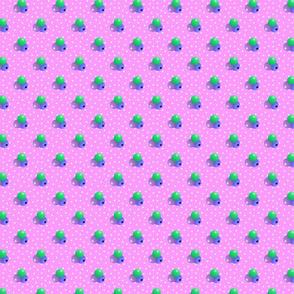 Medium rose dots triple berries