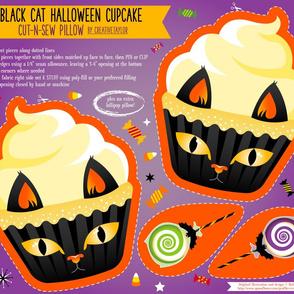 Cut N Sew Black Cat Halloween Cupcake