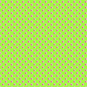 Petite bright green dots triple berries