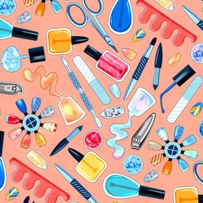 Shimmery Fingernail Equipment - Blush - Large Scale