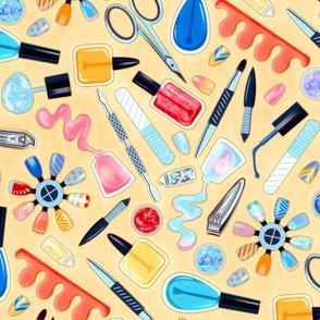 Shimmery Fingernail Equipment - Cream - Large Scale
