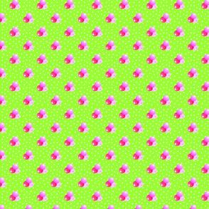Medium bright green dots triple berries