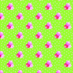 Grande bright green dots triple berries