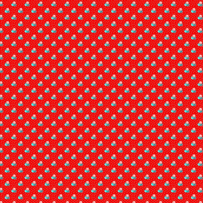 Petite bright red dots triple berries