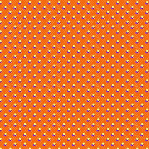 Petite orange dots triple berries