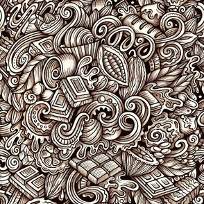 Chocolate Graphics Doodle