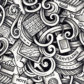 Travel Graphics Doodle