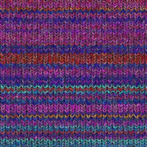 striped KNIT EFFECT TURQUOISE PINK FUCHSIA PSMGE