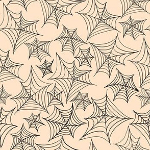 Beige Spider Web.Haloween seamless vector pattern