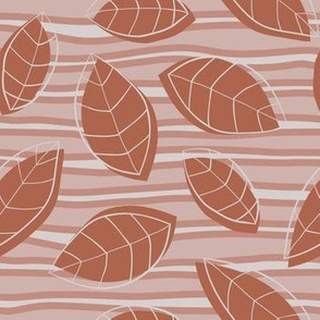 Brown Leaves, Horizontal Lines