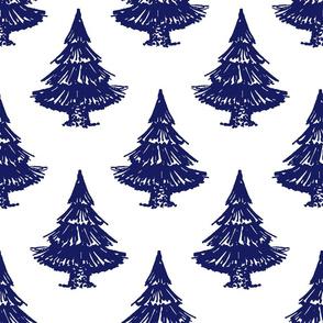 fir tree-white