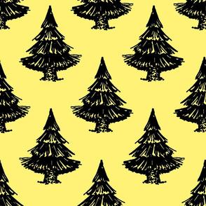 fir tree-yellow