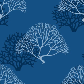 Gorgonia corals in classic blue