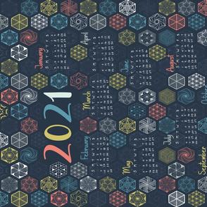 2021 calendar tea towel rotated