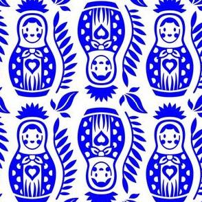 Matrioska Dolls Cerulean Blue
